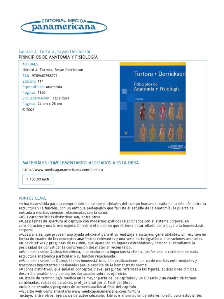 Perfecto Tortora La Anatomía Y La Fisiología De Libros Electrónicos ...