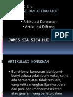 Artikulasi Konsonan Dan Diftong