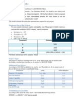 Cost Estimation Using Cocomo