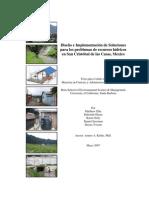 Diseño e Implementación de Soluciones para los problemas de recursos hídricos en San Cristóbal de las Casas, Mexico