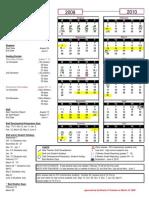 2009-2010 School Calendar