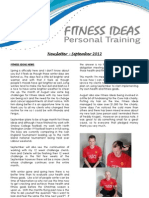 Fitness Ideas Newsletter - 1 Sept 2012