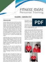 Fitness Ideas Newsletter - 1 Sept 2012