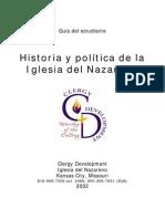 Historia y Politica de La Iglesia Del Naz