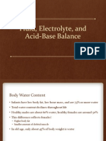 Fluid, Electrolyte, Acid Base Balance