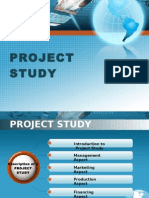 Description of a Project Study