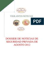 Dossier de Noticias de Seguridad Privada de Agosto 2012