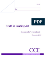 Truth in Lending ACT Handbook 2011
