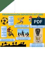 PROGRAMACIÓN DEPORTIVA OCTUBRE