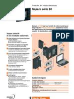 Catalogue Protection Des Reseaux Electriques Sepam 80 Fiche Technique