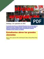Noticias Uruguayas Domingo 2 de Setiembre Del 2012