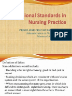 Professional Standards in Nursing Practice