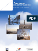 RA air ambiant & pollution en Rhône-Alpes _NO2 & benzène _cartographie _coparly2002
