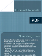Special Criminal Tribunals