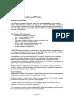 Code of Measuring Practice - Amendments