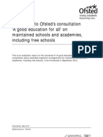 Ofsted 2012_consultation, 'a Good Education for All' [Responses]