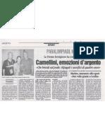 Paralimpiadi, nuoto - Cecilia Camellini, Emozioni d'argento - di Wilma Massucco