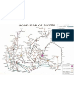 Road Map of Sikkim