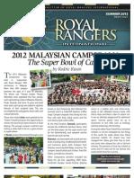 ROYAL RANGERS INTERNATIONAL NEWSLETTER (SUMMER EDITION 2012)