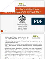 Internship project on dealers level of satisfaction on OCL cement