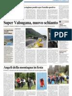 Coppetta d'Oro Borgo Valsugana sul quotidiano Trentino del 2 settembre 2012