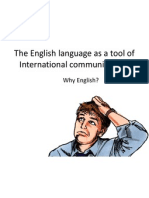 ENGLISH - The English Language as a Tool of International