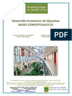Desarrollo Económico de Gipuzkoa. BASES CONCEPTUALES (I) (Es) Economic Development in Gipuzkoa. CONCEPTUAL BASES (I) (Es) Gipuzkoaren Ekonomi Garapena. OINARRI KONTZEPTUALAK (I) (Es)