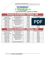 Daftar Harga Baterai Blackberry