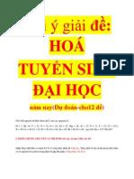 Goi y Giai Hoa de Tuyen Sinh Dai Hoc Dudoannam Nay