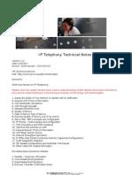 IPL IP Telephony Technical Notes 14052007