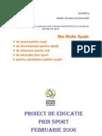 Proiect Educatie Prin Sport