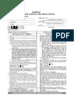 UGC-NET JUNE-2012 COMPUTER SCIENCE PAPER