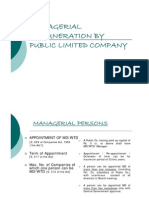 Managerial Remuneration by Public Ltd Companies