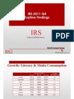 IRS 2011 Q4 Toplines