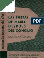 Cabestrero, Teofilo - Las Fiestas de Maria Despues Del Concilio