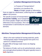 Ocean Freight MTMS 101 Week 1 and 2 Cargo Tonnages & Capacities