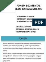 Fonem Segmental Dalam Bahasa Melayu