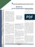 SAP HR 101