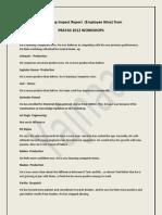 Workshop Impact Report
