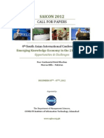 SAICON 2012 - Call for Papers