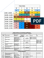 Time Table - Autumn 2011