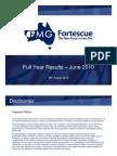Fortescue 2010 Results Presentation