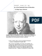 Modernity of the Humboldt Idea of Education 1