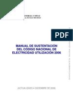 Manual de sustentación del Código Nacional Electricidad Utilización
