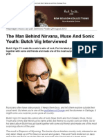 The Man Behind Nirvana, Muse and Sonic Youth_ Butch Vig Interviewed _ Music _ Sabotage Times
