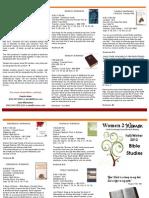 2012 Bible Studies Fall-Winter