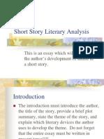 Short Story Literary Analysis 1