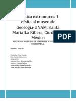 Práctica Museo de Geología UNAM