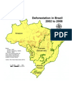 Map of Deforestation in Brazil, from 2002 to 2008, for each Biome