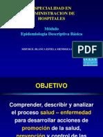 Epidemiologia Descriptiva UNIDAD I,II,VIII